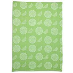 Lime Slice Jacquard Kitchen Towel | Sur La Table