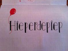 Hieperdepiep Hoera! Hand lettering Studio Suikerzoet