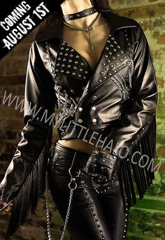 Heavy Metal Leather Fringe Jacket - My Little Halo http://mylittlehalo.com