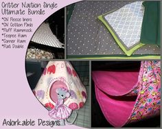 Current Fabric stash http://Adorkablepets.com  Handmade goods are a wonderful way to give your animals the best comfort but also allow you to add color and beauty to their homes. This listing is for a handmade, made to order (you choose your colors) Critter Nations set with pads and liners bundle set . The liners are simple fleece liners made like a pillow case where the pan drops in to. The mats are made from fleece and cotton or flannel, along with a recycled blanket (brand new from…