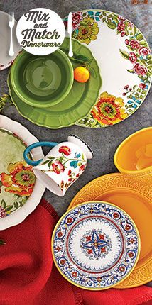 Love the mix and match look for summer table!! Create Your Dining Style - Mix & Match Your Plates with Cost Plus World Market >> #WorldMarket Dining/ Entertaining
