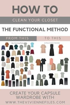 How to clean your closet and build a summer capsule wardrobe using the functional method