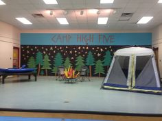 We love this Camp High Five display from Jones Dairy Elementary!