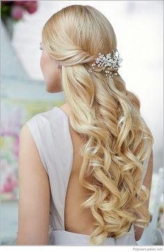 Wonderful wedding hairstyle idea