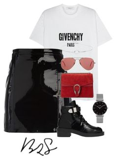 """#933"" by blendingtwostyles ❤ liked on Polyvore featuring Givenchy, Noir Jewelry, Topshop, Manokhi, Balenciaga, Gucci and Ray-Ban"