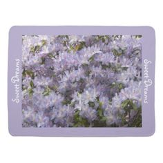 #floral - #Purple Rhododendron Blossoms Baby Stroller Blanket