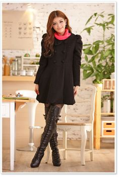 [$36.05]Slim clothing bowknot puff sleeve ball gown tops MF-2117 black L