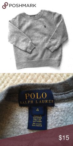 Boys Size 4 Polo Ralph Lauren Crew neck Sweatshirt Boys Size 4 Polo Ralph Lauren Crew neck Sweatshirt. Excellent condition! Only worn a few times! Polo by Ralph Lauren Shirts & Tops Sweatshirts & Hoodies