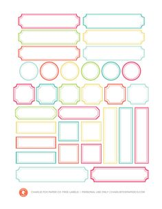 FREE Print and Cut File - Summer Colours Labels