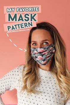 My favorite mask pattern to create your own custom mask! Glue Gun, Sewing Crafts, Sewing Projects, My Favorite Things, Create Your Own, Sewing Patterns, Guns, Weapons Guns, Glue Guns