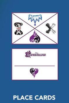 Place Cards ~ Free Disney Descendants Printables & Activities   SKGaleana