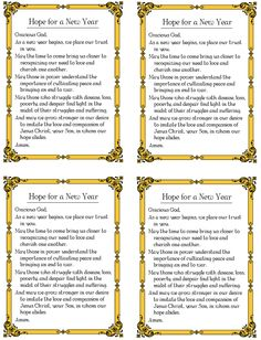 Hope for a New Year Prayer Card Prayer Verses, God Prayer, Prayer Cards, Prayer Quotes, Faith Quotes, Prayer For Family, Prayer For You, Quotes About New Year, Year Quotes