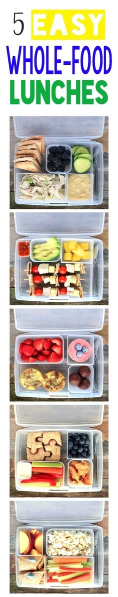 5 MORE Healthy Whole-Food Lunces + Bentology lunch Box GIVEAWAY! TONS of lunchbox inspiration, because if we are honest, a peanut butter and jelly Every. Lunch Box Recipes, Lunch Snacks, Baby Food Recipes, Whole Food Recipes, Lunch Ideas, Healthy Lunches For Kids, Kids Meals, Healthy Snacks, Healthy Eating