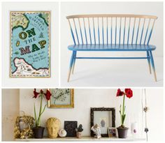 Weekly Inspiration #17 - On the Map by Simon Garfield, Ercol Love Seat and John Derian house by The Selby