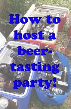 Tips for hosting a beer tasting party! www.bitesnflights.com