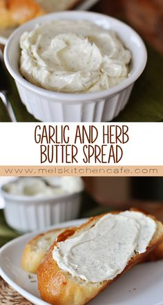 This Garlic and Herb Butter Spread is equal parts cream cheese and butter with a healthy dose of all things flavor!