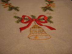 Brodert juleløper Napkins, Towels, Dinner Napkins