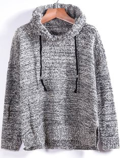 Shop Grey Hooded Long Sleeve Split Knit Sweater online. Sheinside offers Grey Hooded Long Sleeve Split Knit Sweater & more to fit your fashionable needs. Free Shipping Worldwide!