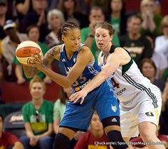 Seimone Augustus & Katie Smith,  October 1 win for Storm
