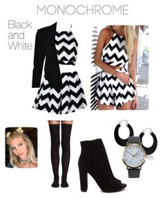 """Monochrome"" by glamand ❤ liked on Polyvore featuring H&M, Bling Jewelry, NLY Accessories and monochrome"