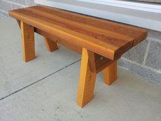 Cedar garden bench $49