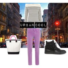 How to Wear: Urban Breton Stripes, created by molly-ryan on Polyvore