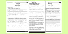Matilda Differentiated Reading Comprehension Activity