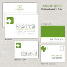 Modern Celtic Wedding Invitation Suite by paperimpressions on Etsy, $255.00