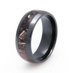 Men's Black Realtree Camo Ring