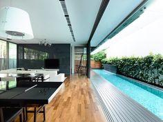 Casa con piscina integrada