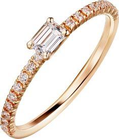 Anel Etincelle de Cartier Ouro rosa, diamantes Aliança De Ouro Rose, Ouro  Dourado, f31ca0b4e1