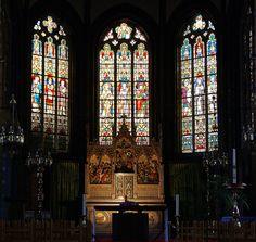 Brügge, Baliestraat, Sint-Gilliskerk, Chor und Hochaltar (St. Giles' Church, chancel and high altar)   da HEN-Magonza