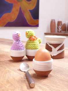 Classic Egg Cups by Stephen Pearce Pottery.