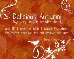 Delicious Autumn by George Eliot Autumn Day, Hello Autumn, Autumn Trees, Autumn Leaves, Autumn Decorating, Fall Decor, Emily Bronte, Seasons Of The Year, Happy Fall Y'all