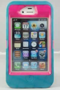 Custom Defender Otterbox Teal/Pink iPhone 4/4S  #otterbox #case