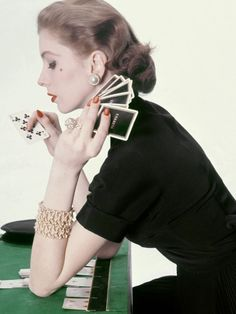 Suzy Parker photographed by Henry Clarke for Vogue, 1952.