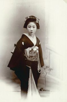 """She is a geisha of Kanegawa, a flourishing city in the Japan sea coast"", Japan, undated"