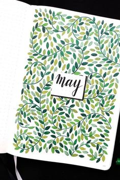 Looking for a super cute and fun bujo cover spread for May? Check out these 20 different examples for inspiration! Bullet Journal For Beginners, Bullet Journal Cover Ideas, Bullet Journal Monthly Spread, Bullet Journal Notebook, Bullet Journal School, Journal Covers, Bullet Journal Inspiration, Scrapbook, Cover Pages