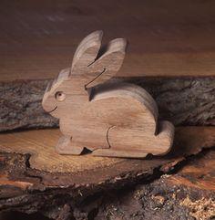 Wooden rabbit toy | Wooden farm toy | Diotoys.com