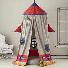 Kids Play Tents: Rocket Ship Play Tent in All New