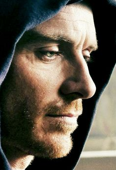Fassbender in his brooding and hoodie majestic :P