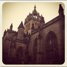 Right around the corner from our hotel! St.Gilles, Edinburgh, Scotland