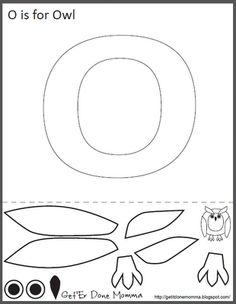 Get 'Er Done, Momma!: Alphabet Crafts: FREE O is for Owl Printable Template