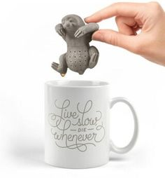 Sloth tea bag holder