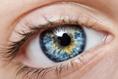 Blue eyes with Gold Ring.