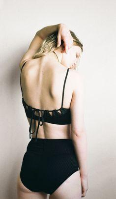 Mikka Bikini Textured Black