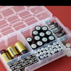 Love this for batteries! I always feel like I can't find the right battery when I need it...