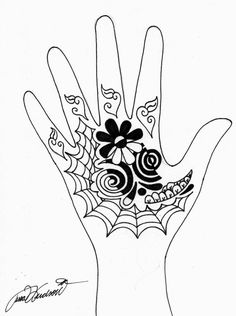 Henna Designs - Multi Dimensional Flower