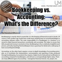 Bookkeeping Vs. Accounting:  What's the difference? #BeUnstoppable #mediaandthecity #brandit #UnstoppableMomma #Entrepreneur #PersonalBranding #SocialMediaStrategist #HowToPersonallyBrandYou #HowToBecomeAnAuthorityInYourNiche #OnlineMarketingStrategiesForNewbies #PersonalBrandingStrategy