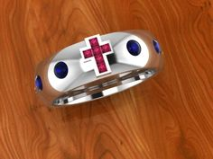 Custom Design Rosary Ring - computer image #design #customjewelry #rosaryring #BettyWhiteJewelers
